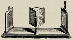 Dibujo del estereoscopio diseñado por Charles Wheatstone