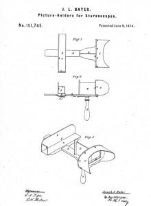 Uno de los modelos de estereoscopios patentados por Joseph L. Bates