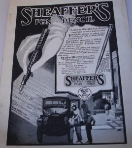 Publicidad de Sheaffer de principios de siglo