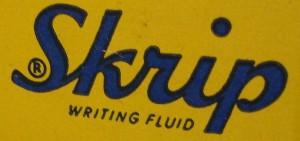La tinta Skrip se desarrolló a principios de los años veinte