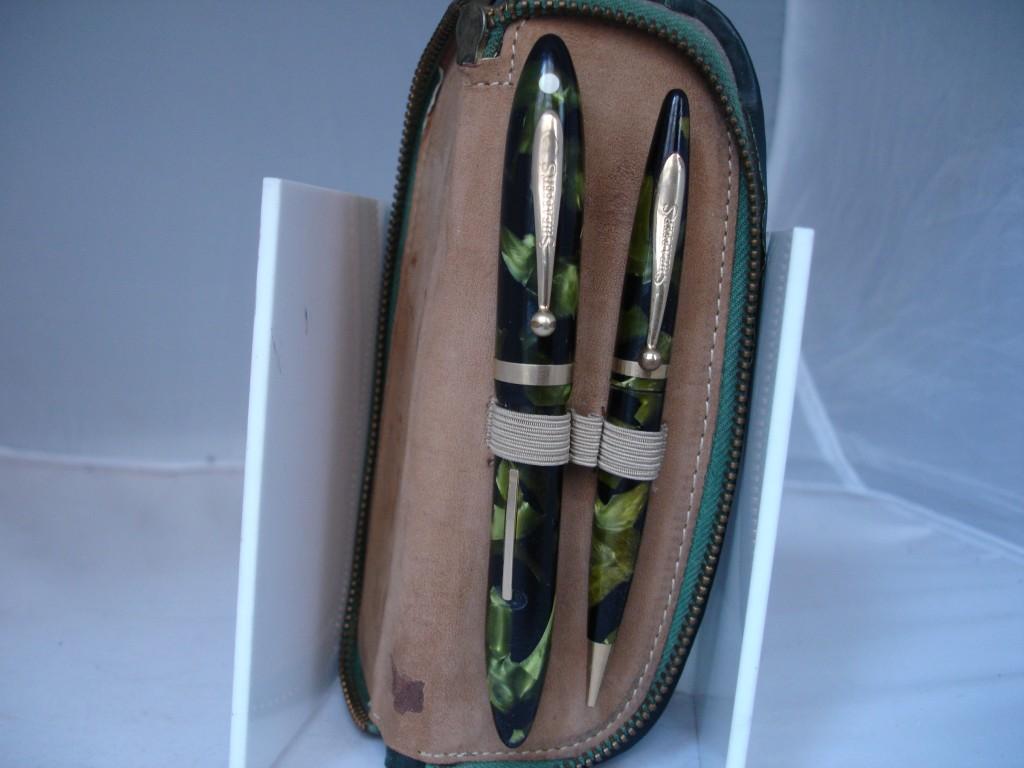 Conjunto de estilográfica y portaminas de la serie Balance en color verde