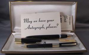 Un modelo Autograph en su estuche original. Fuente: www.fountainpennetwork.com