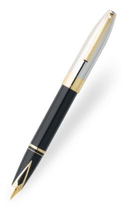 Actual modelo Legacy Heritage en laca negra y paladio pulido con detalles laminados en oro. Fuente: www.sheaffer.com