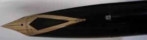 plumín integrado con forma de cola de golondrina