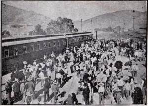 Inauguración del Ferrocarril Coahuila y Pacífico. Año 1093. Torreón (Méjico). Fuente: www.mexicoenfotos.com