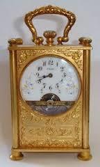 Reloj de sobremesa / carruaje de la manufactura helvética. Fuente: www.ebay.com