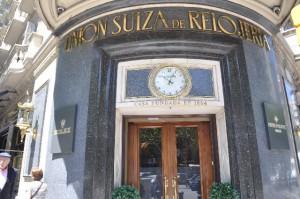 Fachada del establecimiento que Unión Suiza de Relojería tiene en la Avenida Diagonal de Barcelona