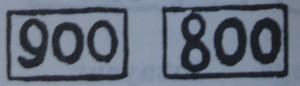 Contrastes contemporáneos de 800 y 900 milésimas. Fuente: 'Poinçons D' Argent