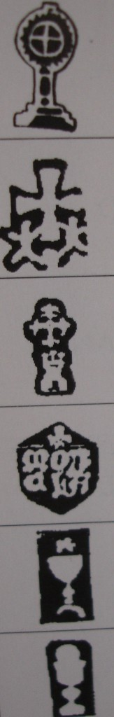 Punzones de ciudad relacionados con emblemas y objetos litúrgicos. Fuente: 'Marcas de la plata española y virreinal'