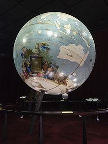 Esfera de gran tamaño fabricada por Vincenzo Coronelli