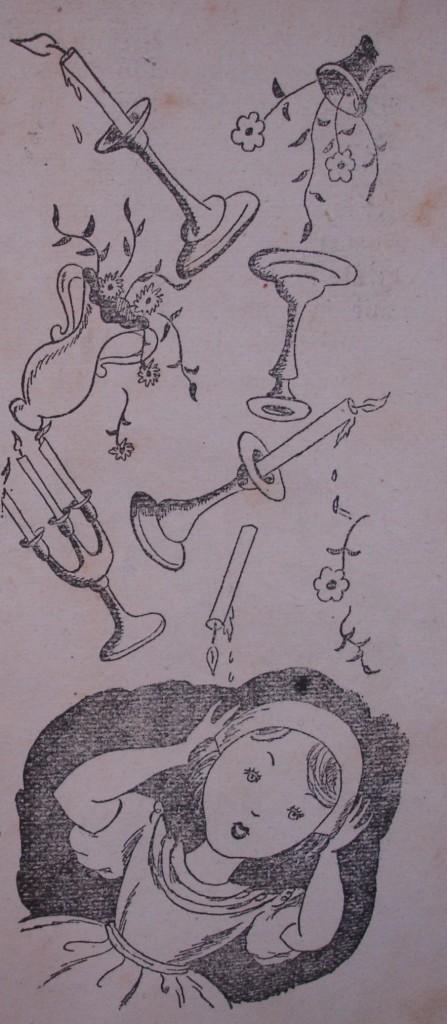 Ilustración en blanco y negro para un libro infantil