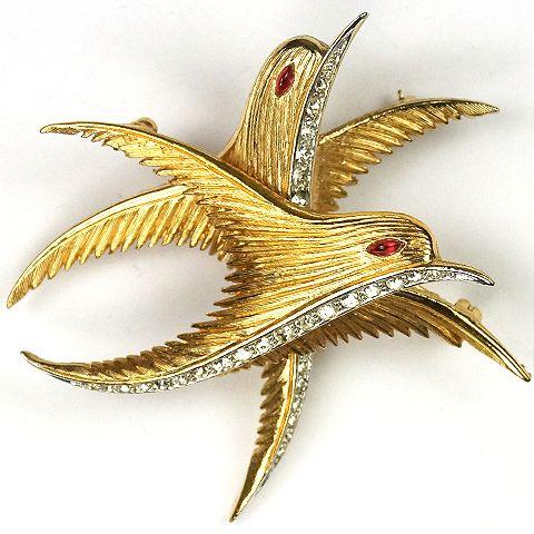 Pin de dos pájaros firmado por Marcel Boucher. Fuente: www.trifari.com