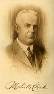 Retrato del fabricante americano Melville Clark