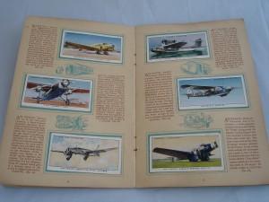 Álbum de cromos dedicado a los aviones y distribuido por la compañía tabaquera John Player