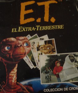 Cromos de la famosa película de Spielberg