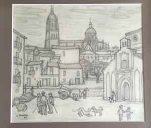 Paisaje de la capital salmantina, con la catedral al fondo