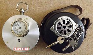 Ejemplo de reloj vigilante con esfera exterior a la manera de un ojo de buey. Fuente: www.ebay.com