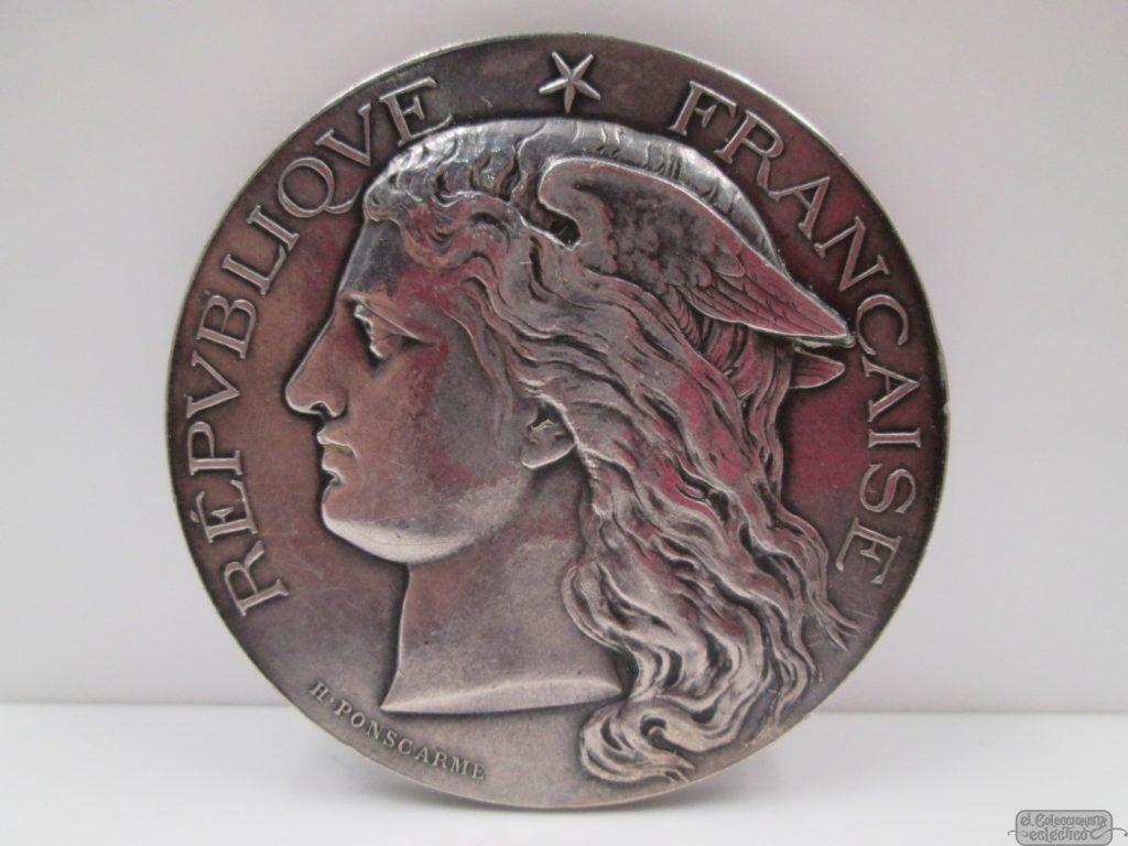 REPÚBLICA FRANCESA. MINISTERIO DE COMERCIO. PLATA DE LEY, 1884. FRANCIA